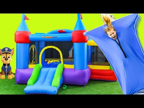 Assistant Bounce House Obstacle Course Contest with Mr  Engineer with Paw Patrol