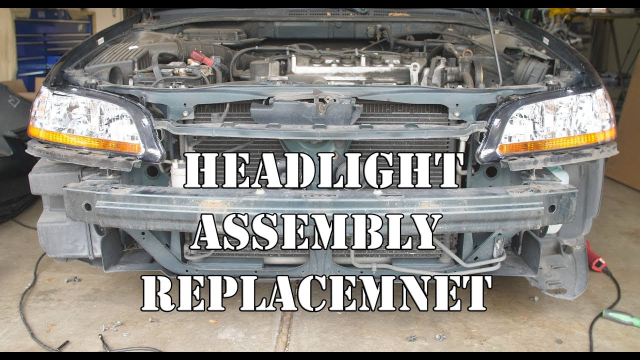 1998 2002 honda accord headlight assembly replacement youtube rh youtube com 2009 honda accord headlight diagram 2002 honda accord headlight diagram
