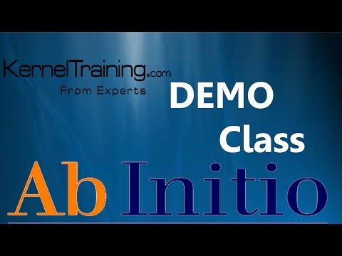 AB Initio ETL Software Tool Introduction Video Tutorial