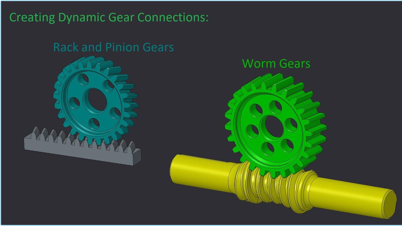 rack pinion gears and worm gears creo tutorial