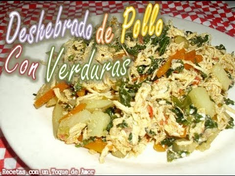 recetas faciles con pechuga de pollo desmenuzada