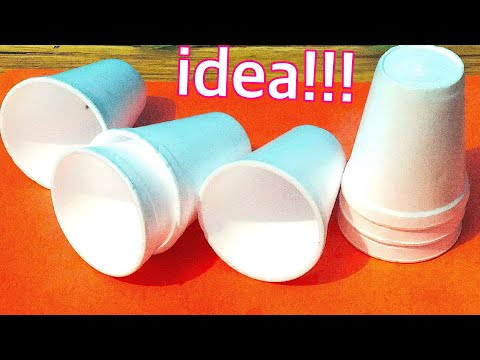 Waste material craft idea easy - Best craft with plastic glass -recycle idea of waste disposal glass