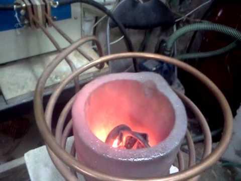אינדוקציה- High frequency induction heater furnace