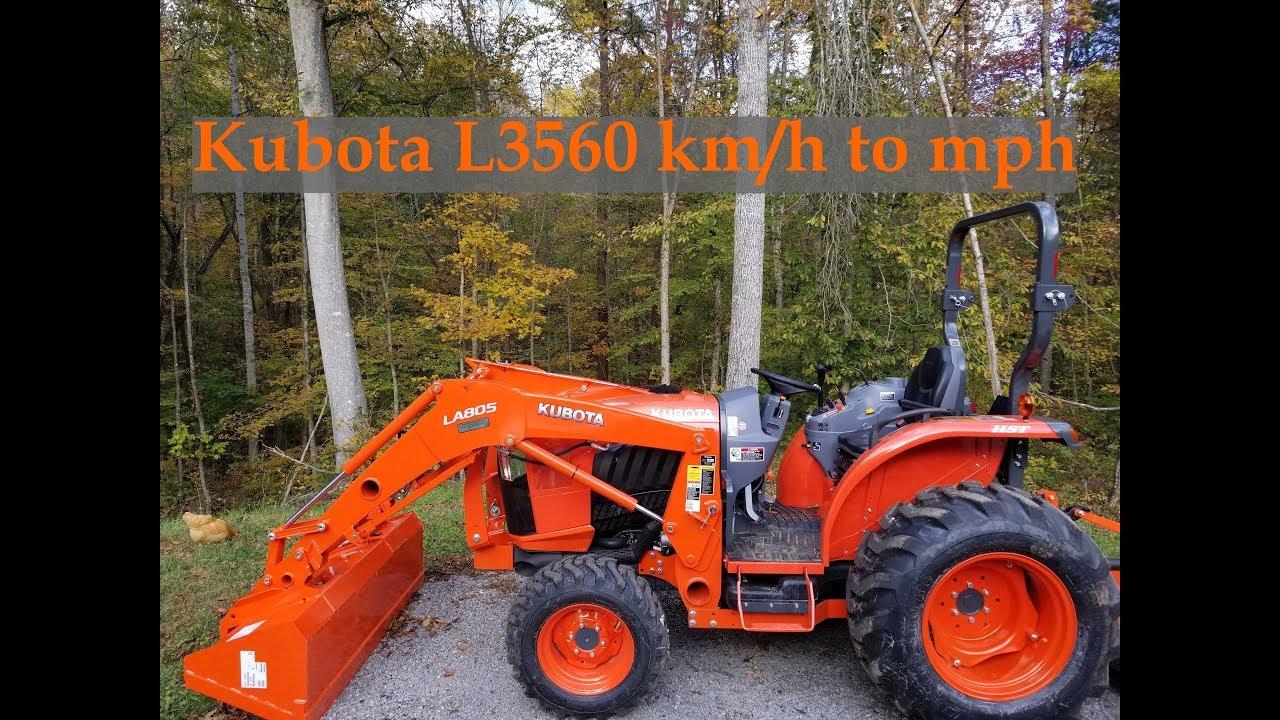 Kubota speed setting km/h to mph