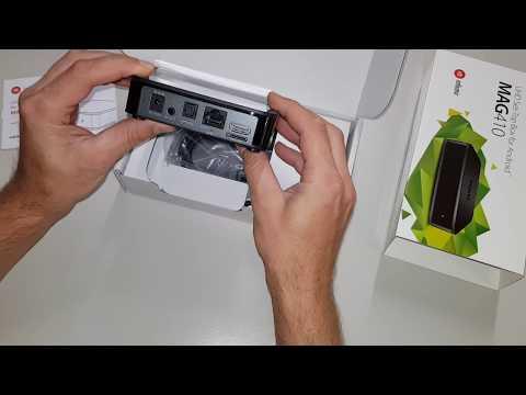MAG 410 IPTV Unboxing