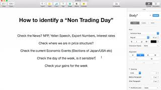 """Identifying a """"Non Trading Day"""""""