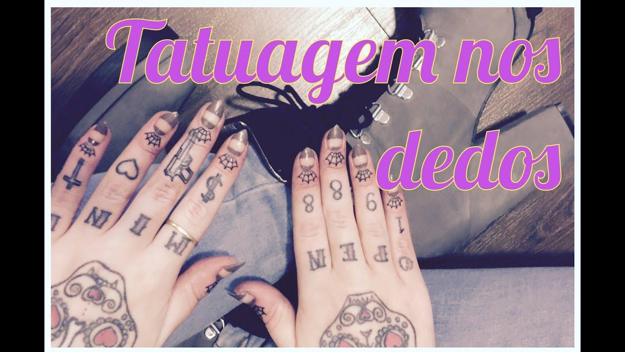 Tattoo No Dedo Cicatrizaçãofalhas Retoque
