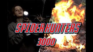 FIGHTING HUGE SPIDER NEST! *ALMOST BURNS HOUSE DOWN* - Spider Hunters 3000