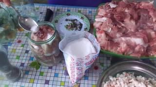 Простой рецепт приготовления тушенки из свинины в собственном соку