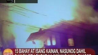 UB: 15 bahay at isang kainan, nasunog sa Maynila dahil daw sa cellphone na iniwang naka-charge