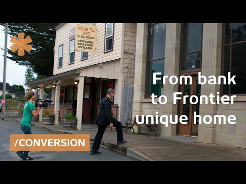 Brick & mortar frontier town bank as NorCal downtown home