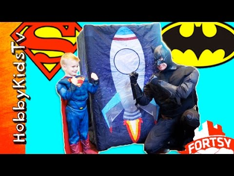 giant-fortsy-surprise-egg-battle!-batman-and-superman-want-the-hobbykids-toys