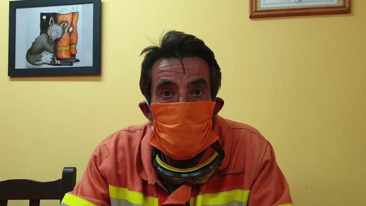 informe incendios en La Cumbre. domingo 18.10.20