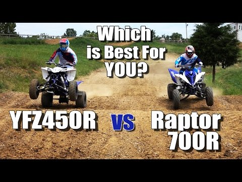 Yamaha Raptor 700R vs YFZ450R Shootout. Which is Best for You?