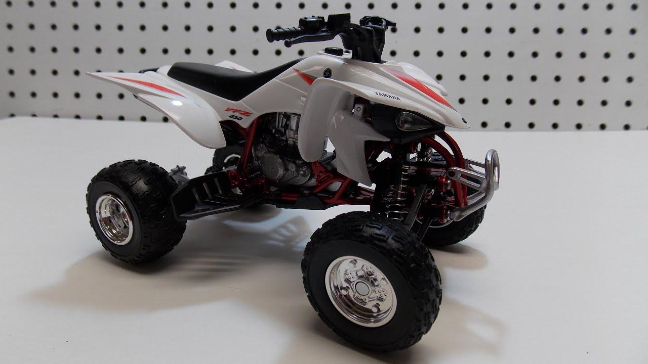 New Ray Toys 2008 Yamaha Yfz 450 Atv Review Youtube