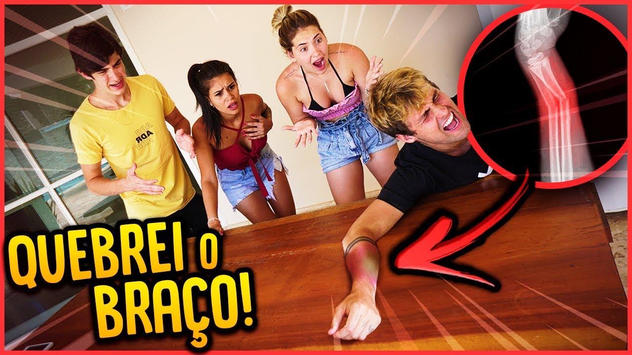 QUEBREI O BRAÇO FEIO!! - TROLLANDO NAMORADA [ REZENDE EVIL ]
