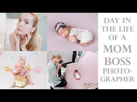 Day in the life of a MOMBOSS Photographer (BTS Newborn, Baby and Cake Smash Photo Shoot)