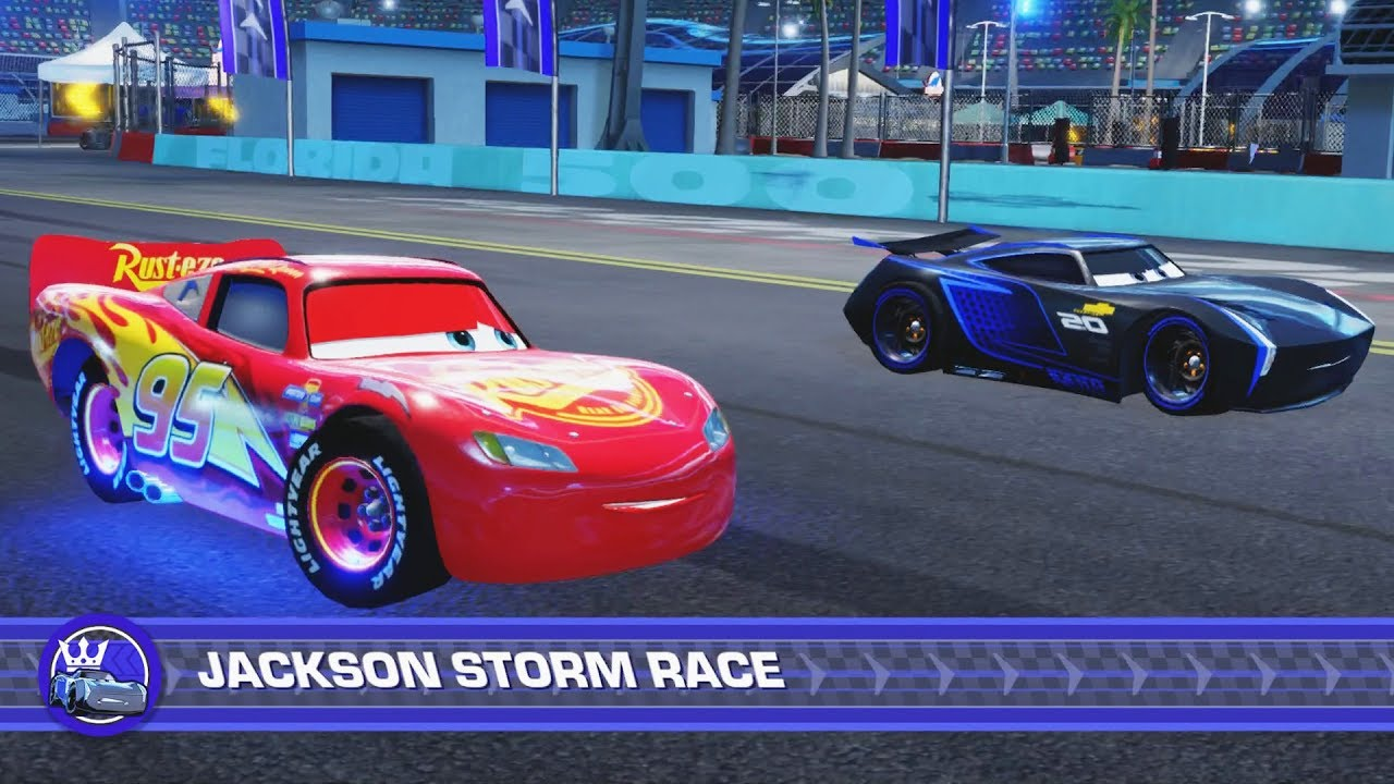 Cars Ending Lightning Mcqueen Vs Jackson Storm Final Race Youtube