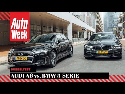 Audi A6 Vs BMW 5-serie - AutoWeek Dubbeltest - English Subtitles