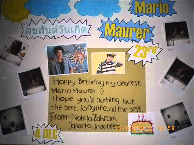 My 1st project : Birthday gift to Mario Maurer.wmv Travel Video