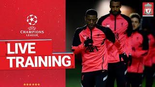 Liverpool's Champions League training   Pre-Midtjylland