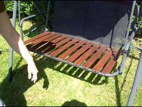 how to renovate repair a garden swing seat