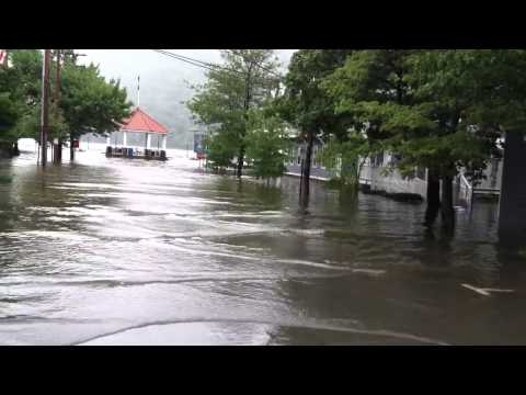 Hudson River Flooding, Lower Main Street, Cold Spring, Sept. 2011