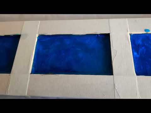Part 3 Bay window shelf epoxy resin colour test. Metallic Turquoise and Electric Blue Mica pigments