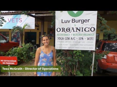 Luvburger Vegan Restaurant in Playa Samara, Costa Rica