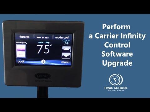How To Perform A Carrier Infinity Control Software Upgrade Youtube