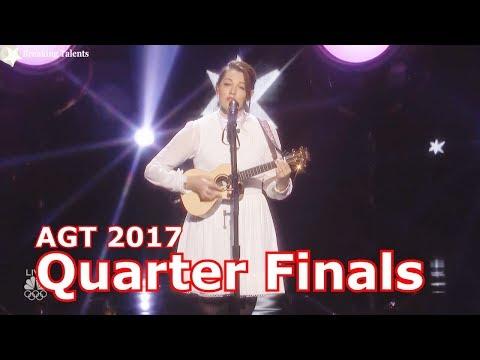 """Mandy Harvey  original """"Mara's Song"""" w Judges Comments Quarter Finals America's Got Talent 2017"""