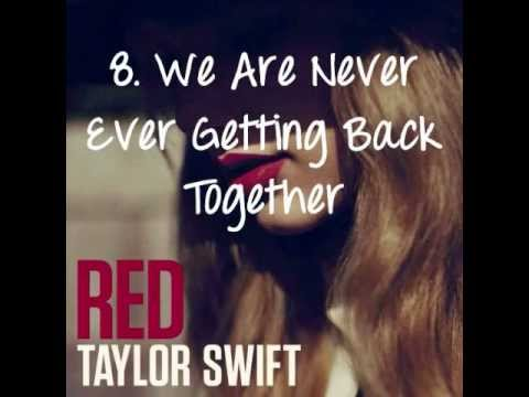 Taylor Swift - RED (ALBUM TRACKLIST & SONG PREVIEWS)