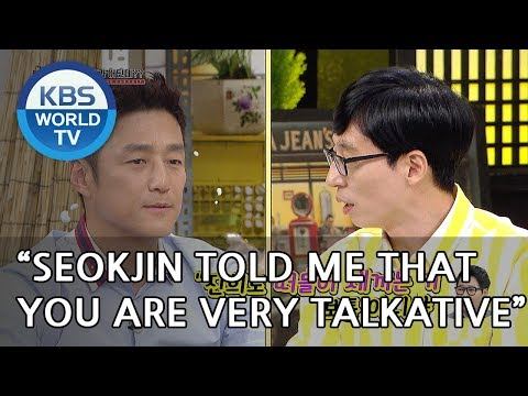 """Jaeseok """" Seokjin told me that you are very talkative""""  [Happy Together/2018.06.14]"""