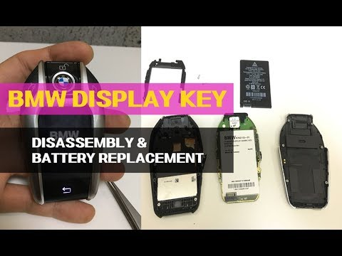 How To Bmw G30 G11 G12 Display Smart Key Battery Replacement