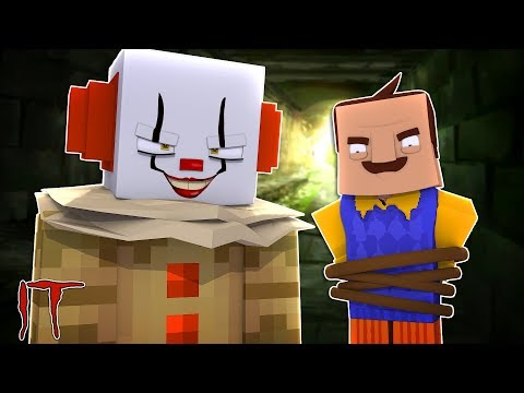 IT THE CLOWN MINECRAFT - HAS HE TAKEN THE NEIGHBOUR!?w / Little Kelly