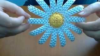 How To Make   3d Origami  Flower ( Daisy Flower)