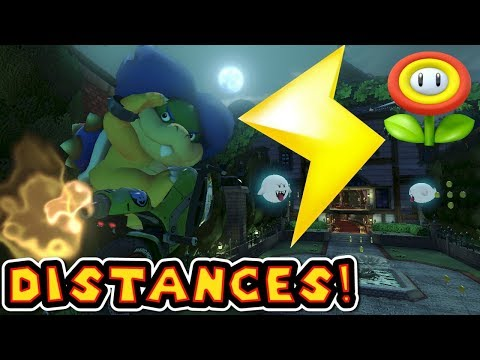 Mario Kart 8 Deluxe Lightning Bolt Distances - Flower Cup