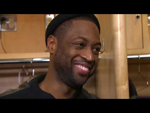 Dwyane Wade gets interrupted by LeBron James yelling about Ohio State football | ESPN