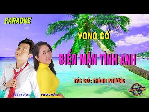 Vọng cổ: Biển mặn tình anh | Karaoke full beat | Hồ Minh Đương + Phương Ngân