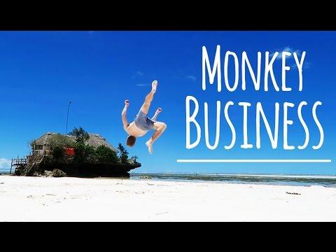 Monkeys Flips & Vespa Tricks | Tanzania Travel Vlog