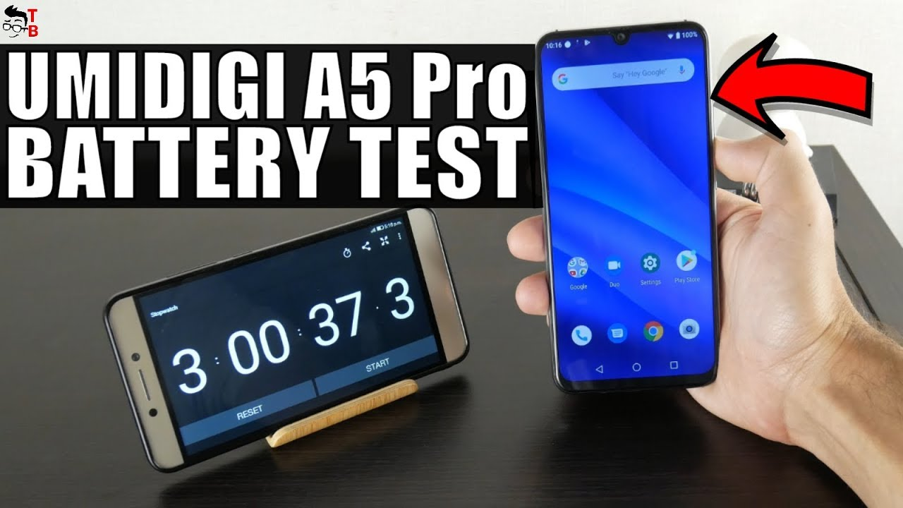 UMIDIGI A5 Pro - Battery Drain Test and Charging Time