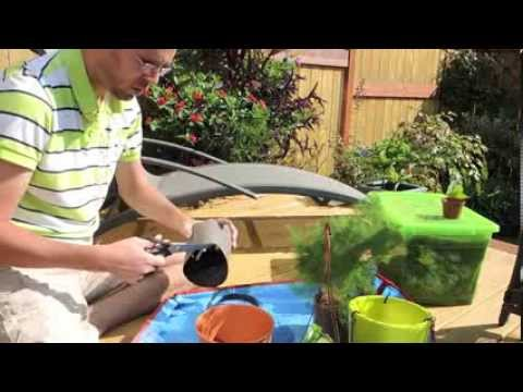 how to plant a container with no drainage holes youtube. Black Bedroom Furniture Sets. Home Design Ideas