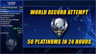 🔴 World Record Attempt - 50 PS4 Platinum Trophies Within 24 Hours - LIVE Holiday Stream (Dec 14)