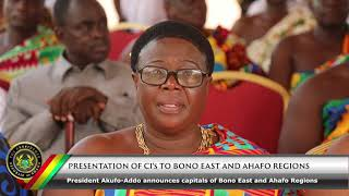 Presentation of CI's to Bono East and Ahafo Region