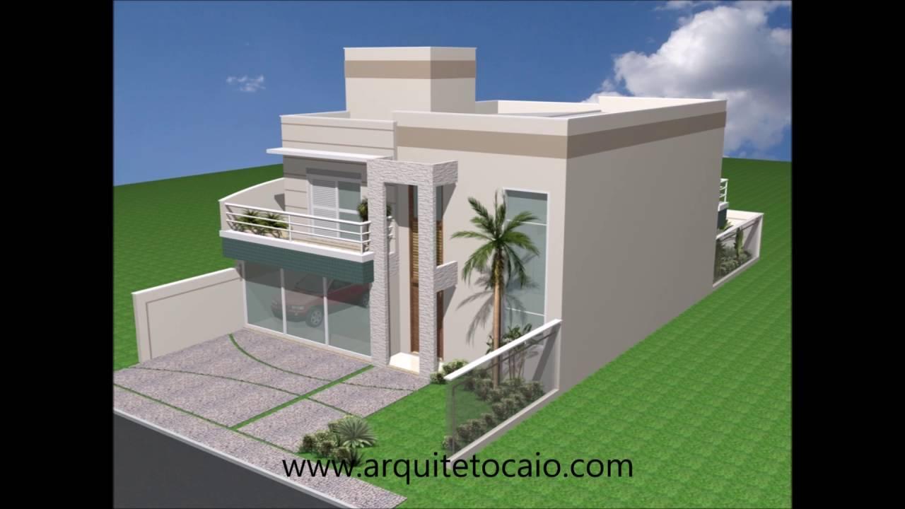 Projeto casa sobrado arquitetura moderna 03 dormit rios for Casa moderna 3 parte 2