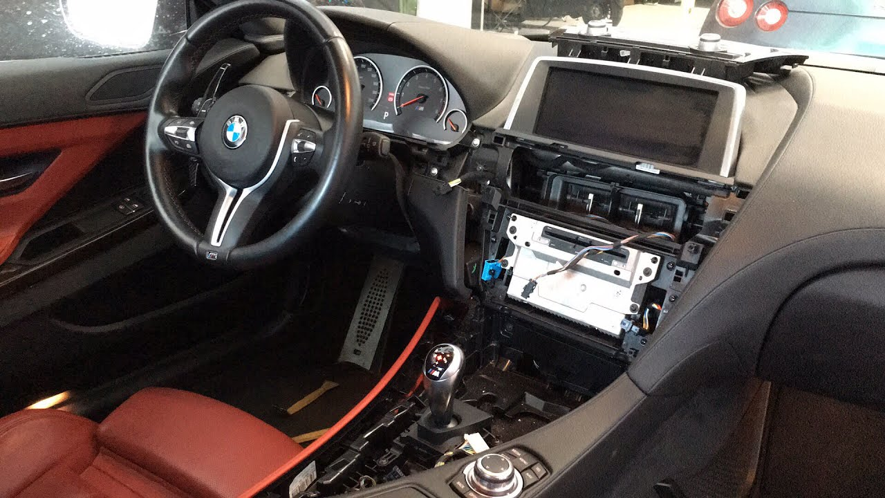 Bmw M6 Dash Trim Removal Wrapped To Carbon Fiber Vinyl F13 A