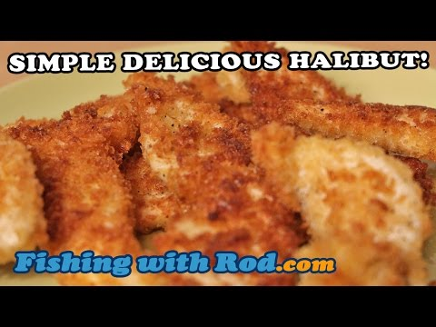 SIMPLE DELICIOUS HALIBUT RECIPE WITH PANKO BREADCRUMB! | Fishing With Rod