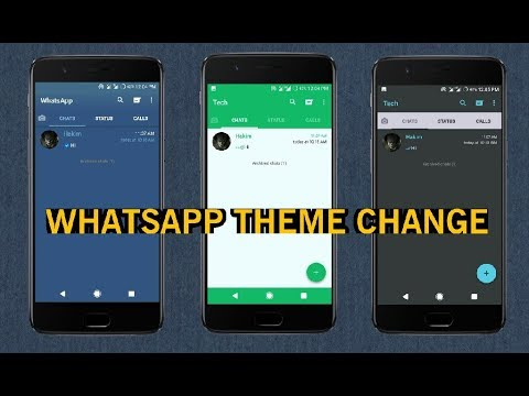 How to Change WhatsApp Theme Colour on Android 2017