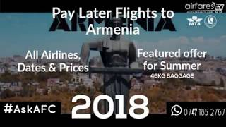 Pay later flights to Armenia