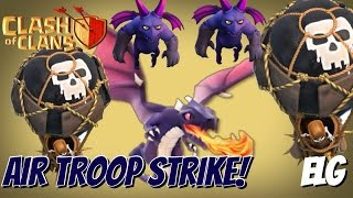 All Air Troops Attack Strategy Gameplay | Balloons, Dragons, Minions | Max Dat #31 | Clash of Clans